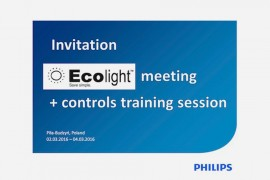 ECOLIGHT Meeting + Controls training session